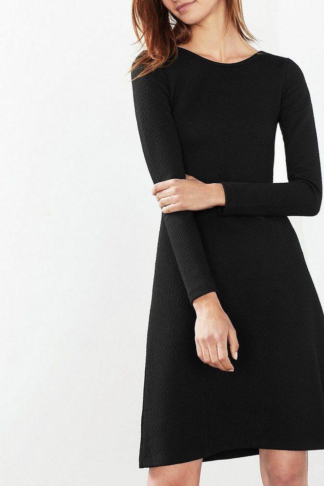 EDC Multicolour Sweat Kleid mit Stretch in BLACK
