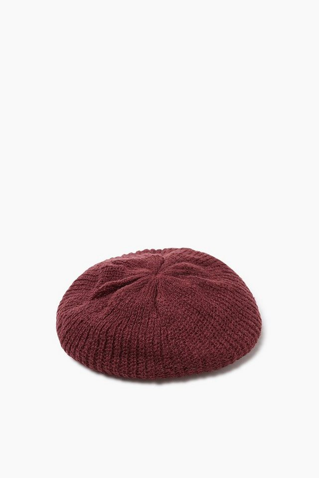 ESPRIT CASUAL Barett aus weichem, doppeltem Strick in BORDEAUX RED