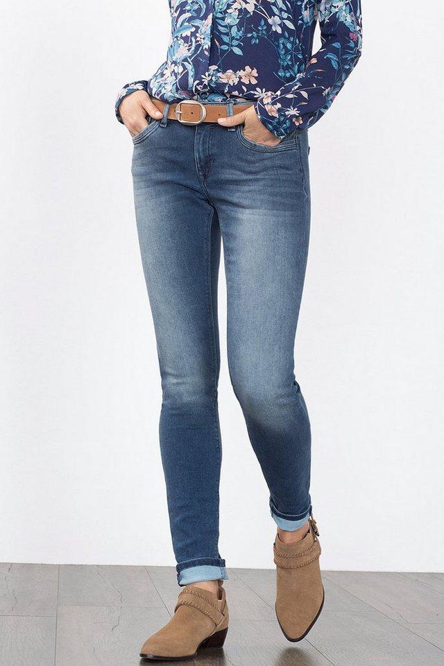 EDC Stretch-Jeans aus Premium Qualität in BLUE MEDIUM WASHED