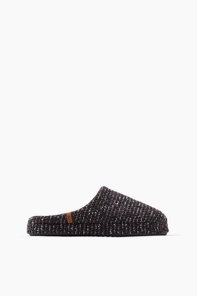 ESPRIT CASUAL Home Slipper aus Bouclé-Strick in BLACK