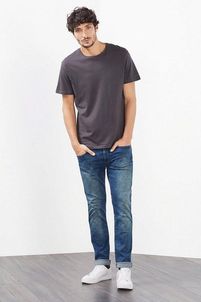 EDC Stretch Jeans aus Dynamic Denim in BLUE MEDIUM WASHED
