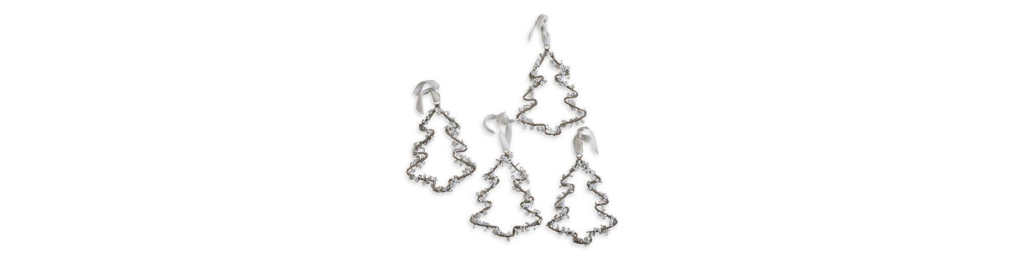 Loberon Weihnachtsschmuck 4er Set »Hemlok«