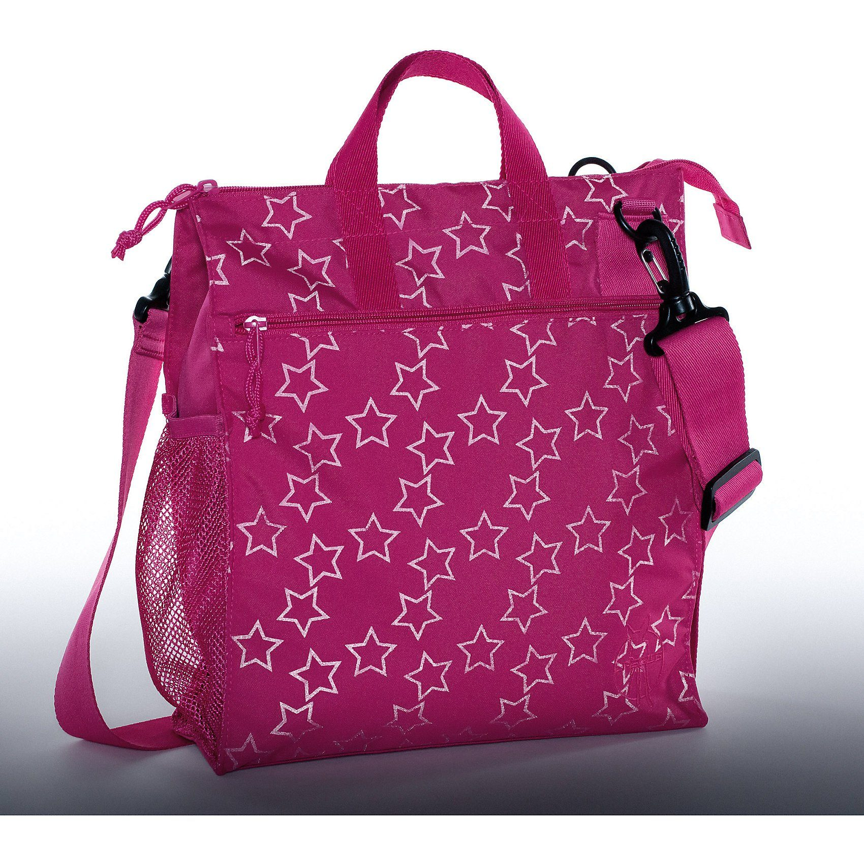 Lässig Wickeltasche Casual, Buggy Bag, Reflective Star, magenta