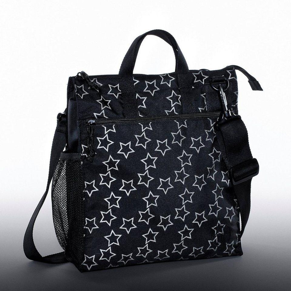 Lässig Wickeltasche Casual, Buggy Bag, Reflective Star, black in schwarz