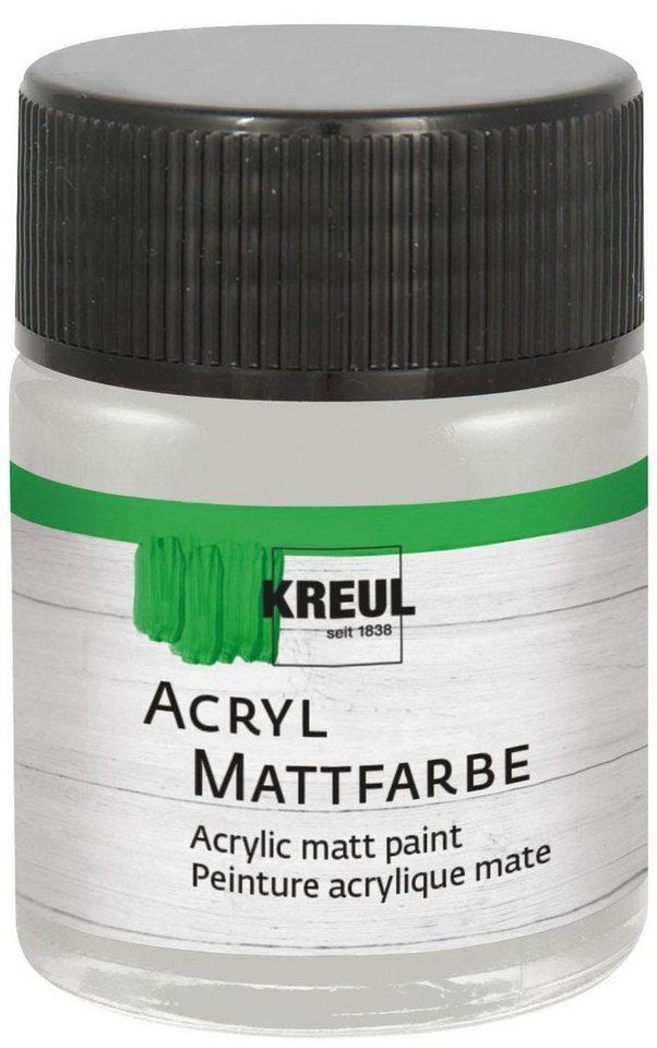 Kreul 50 ml Acrylfarbe Matt Künstlerfarbe in Silber