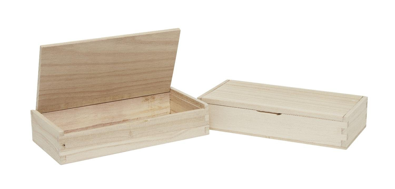 VBS 2x Holzbox Stiftebox Organizerbox VBS Notizbox