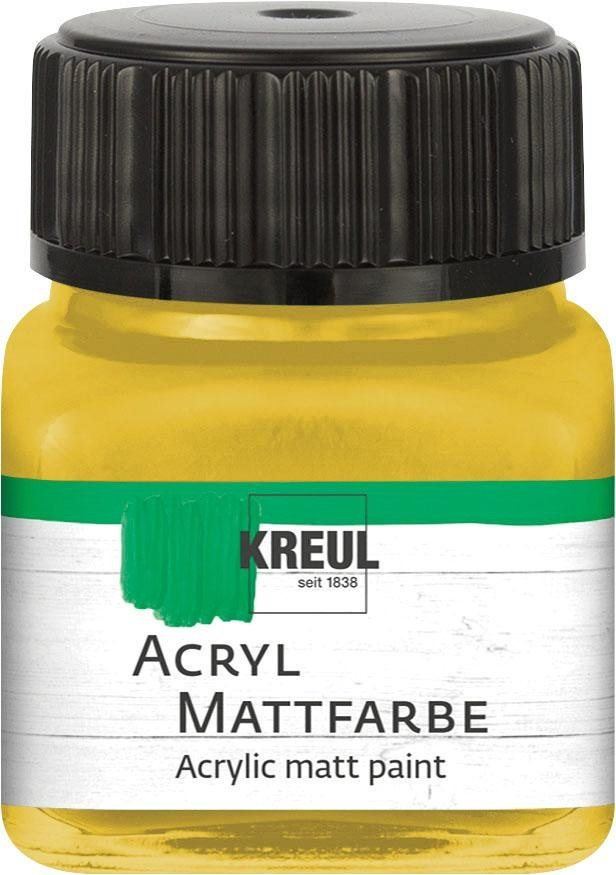 Kreul Acryl Mattfarbe, 20 ml in Gold