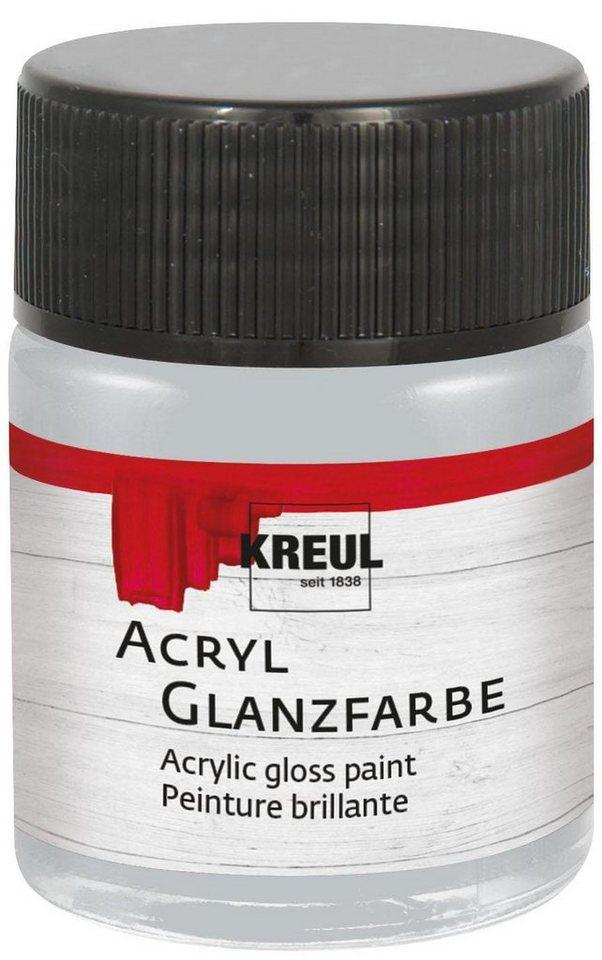 Kreul Acryl Glanzfarbe, 50 ml in Silber