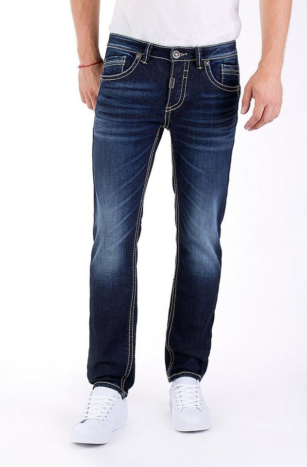Blue Monkey Slim-fit-Jeans »Freddy 4339« in dunkelblau