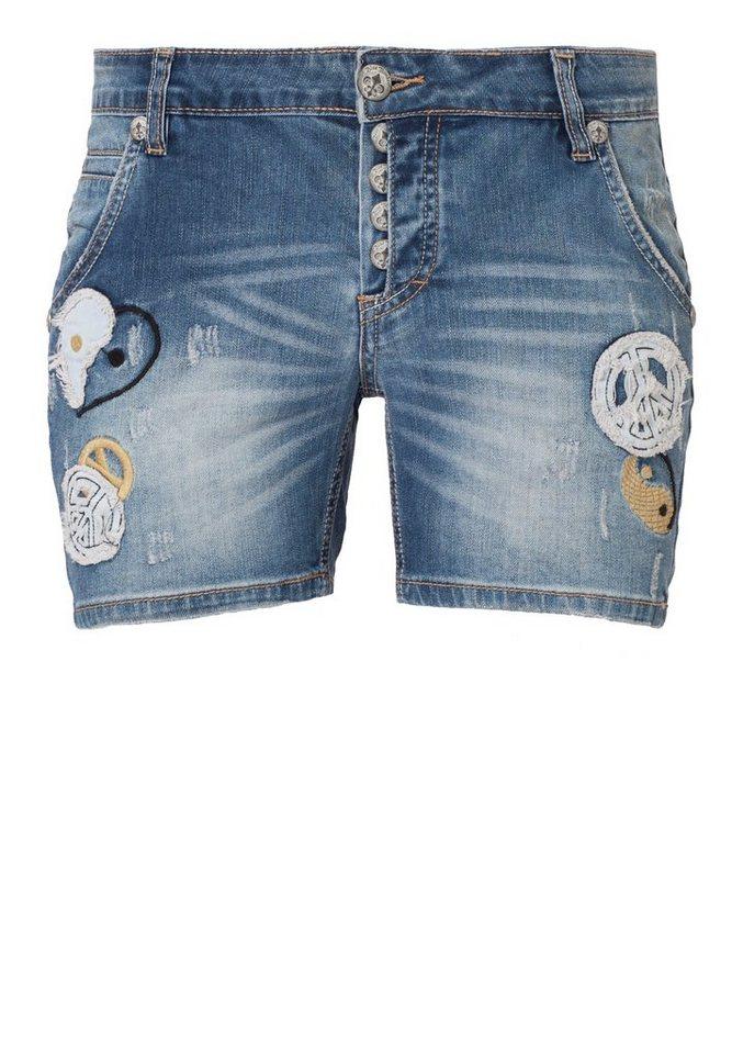 Blue Monkey Shorts »Hope 3553« in mittelblau