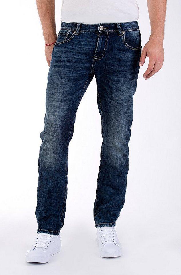 Blue Monkey Slim-fit-Jeans »Buck 2025« in dunkelblau