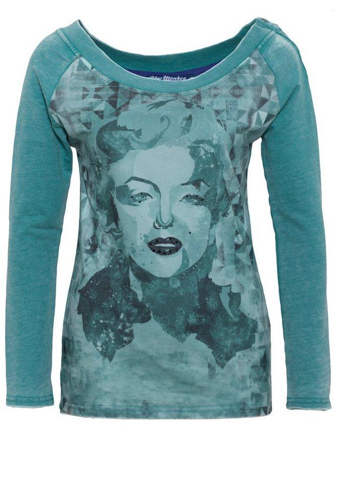 Blue Monkey Sweatshirt »Marilyn Style 7 17-4919« in green