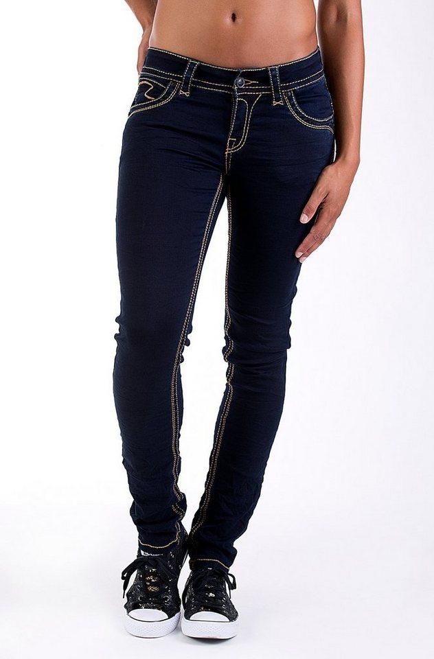 Blue Monkey Skinny-fit-Jeans »Laura 3653« in dunkelblau