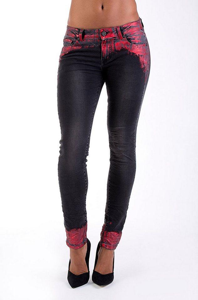 Blue Monkey Skinny-fit-Jeans »Honey 1104« in grau