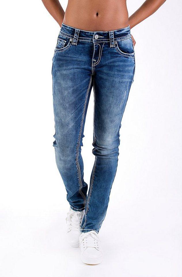 Blue Monkey Skinny-fit-Jeans »Luna 3641« in blau