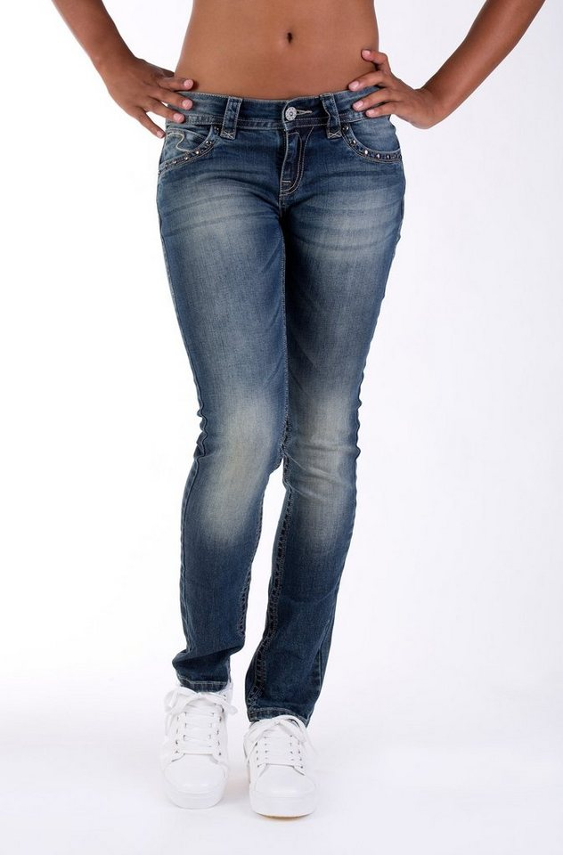Blue Monkey Skinny-fit-Jeans »Laura 3614« in blau