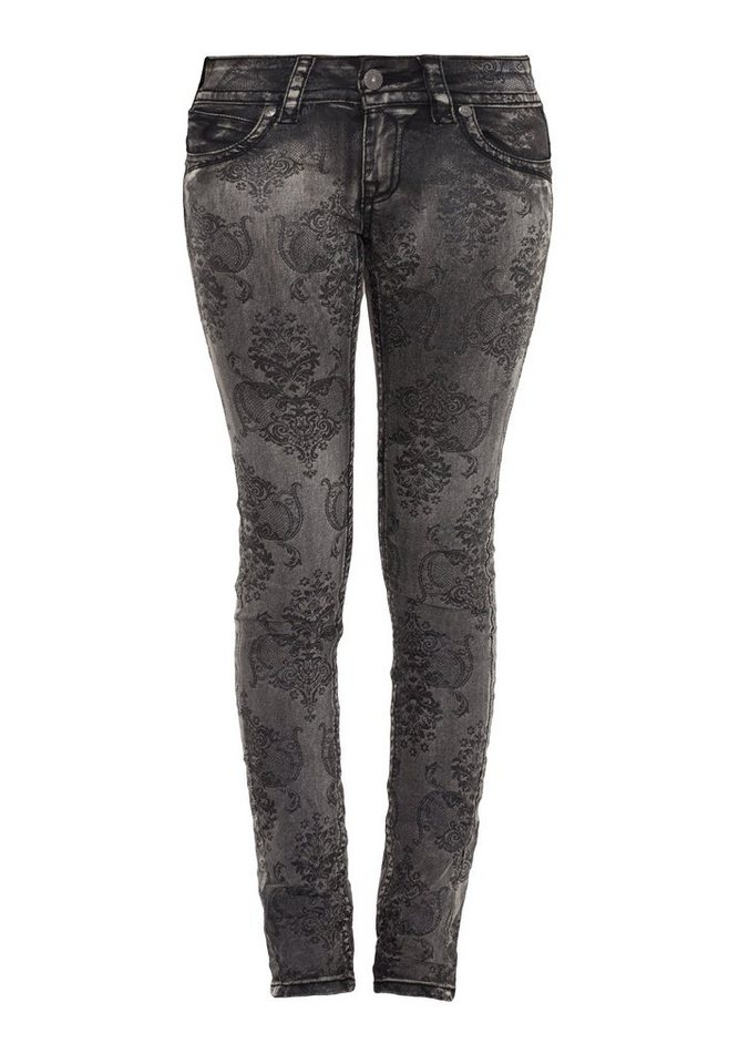 Blue Monkey Skinny-fit-Jeans »Laura 3647« in grau