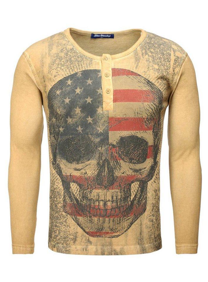 Blue Monkey T-Shirt »Skull Style 1 16-1133« in old