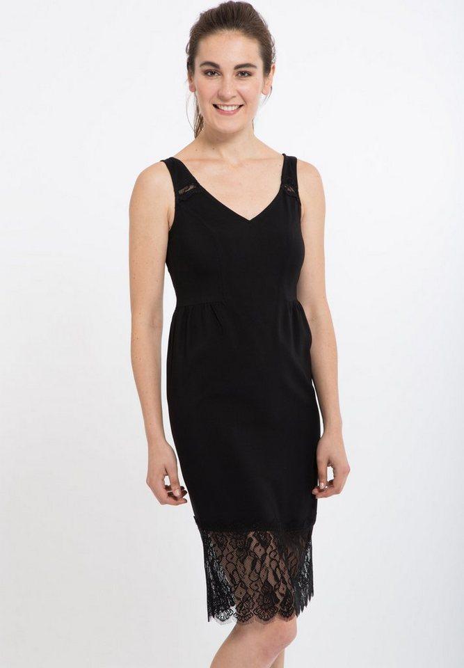 Mexx Sommerkleid mit Spitze in schwarz