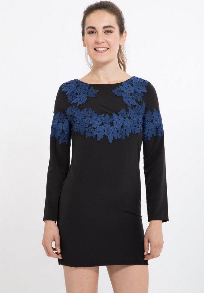 Mexx Abendkleid mit Spitzen Applikation in schwarz