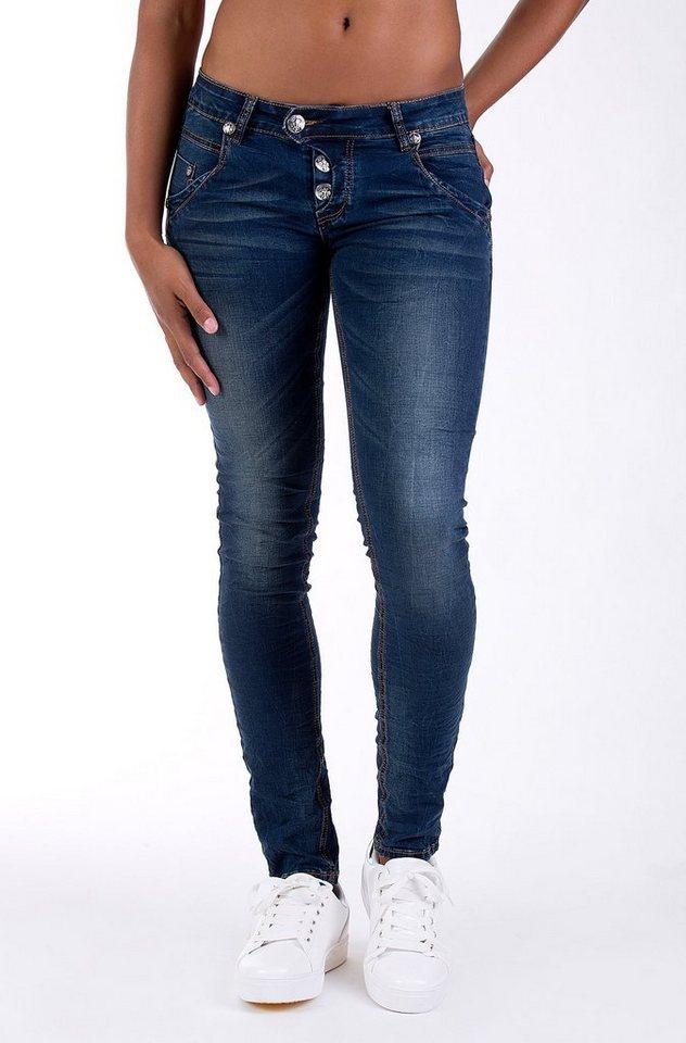 Blue Monkey Skinny-fit-Jeans »Manie 3449« in blau