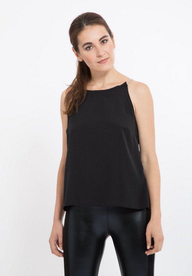 Mexx Chiffonbluse mit schönem Kettendetail in schwarz