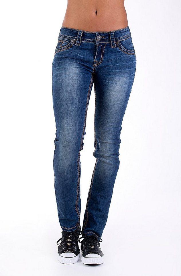 Blue Monkey Skinny-fit-Jeans »Laura 3613« in blau