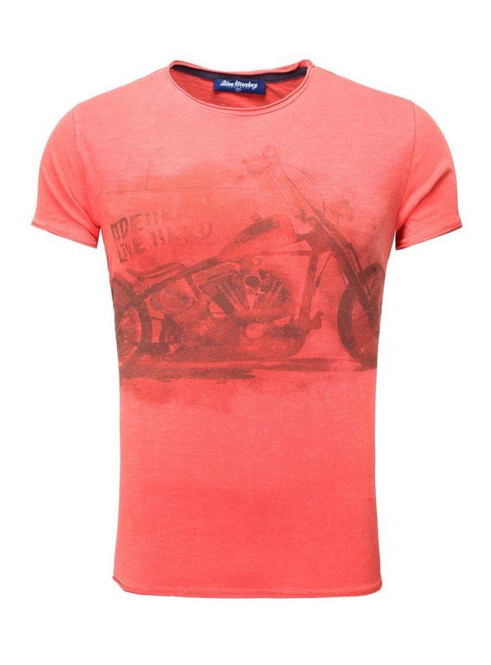 Blue Monkey Print-Shirt »Bike Style 4 18-1550« in red