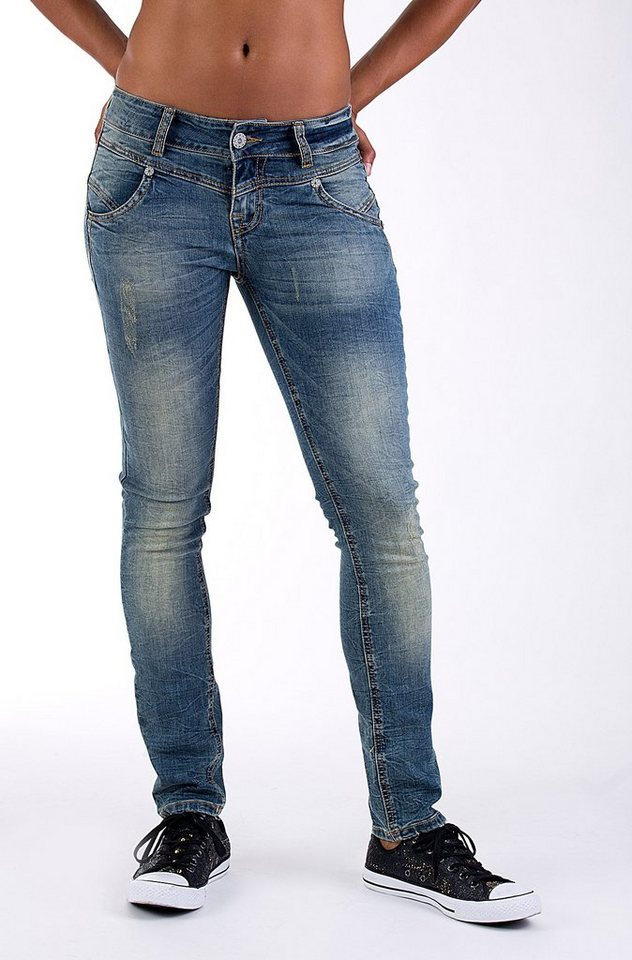 Blue Monkey Skinny-fit-Jeans »Julia 3623« in blau
