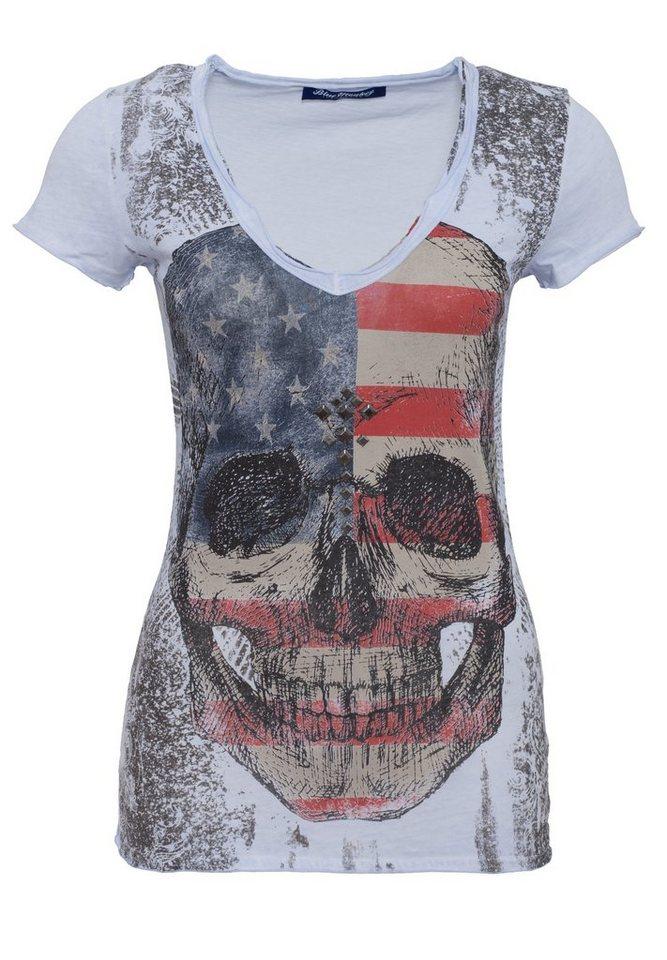 Blue Monkey T-Shirt »Skull Style-1 17-4919« in blue
