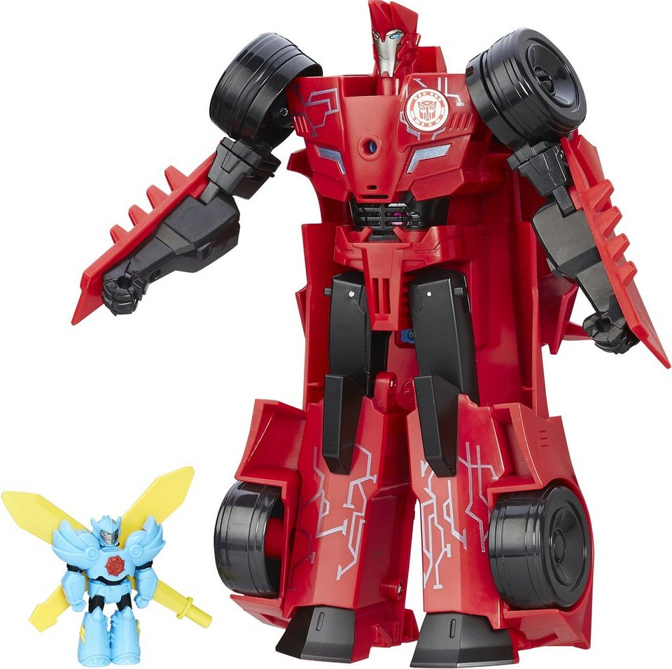 Hasbro Spielfigur, »Robots in Disguise, 3 Step, Changer Sideswipe und Winstrike«