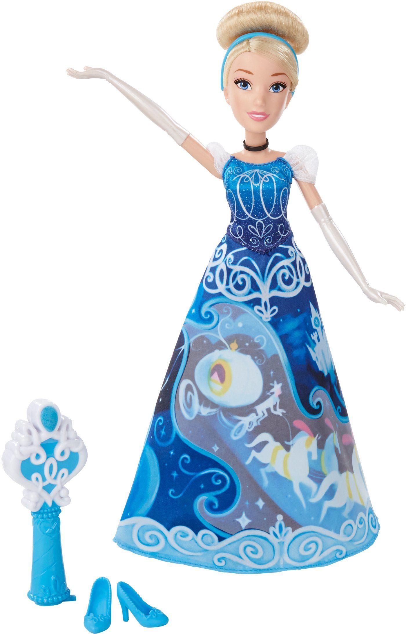 Hasbro Puppe, »Disney Prinzessin, Cinderella in magischem Märchenkleid«