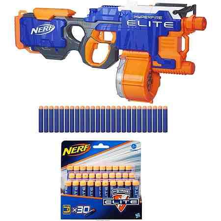 Hasbro Blaster + Gratiszugabe, »Nerf N-Strike Elite, Hyper-Fire Blaster + Nachfüllpack Nerf Elite«