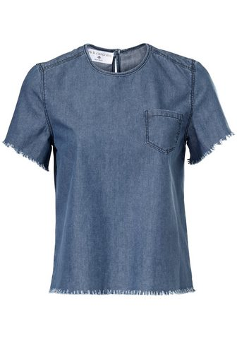 HEINE STYLE джинсовая блузка с бахрома