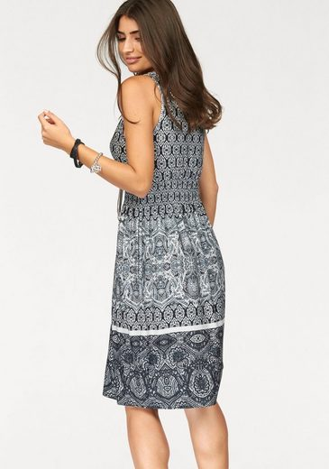 Boysen's Jerseykleid, mit Alloverdruck im Ethno-Stil