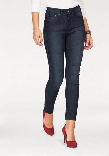 Arizona 7/8-Jeans mit Schnürung am Saum, High Waist
