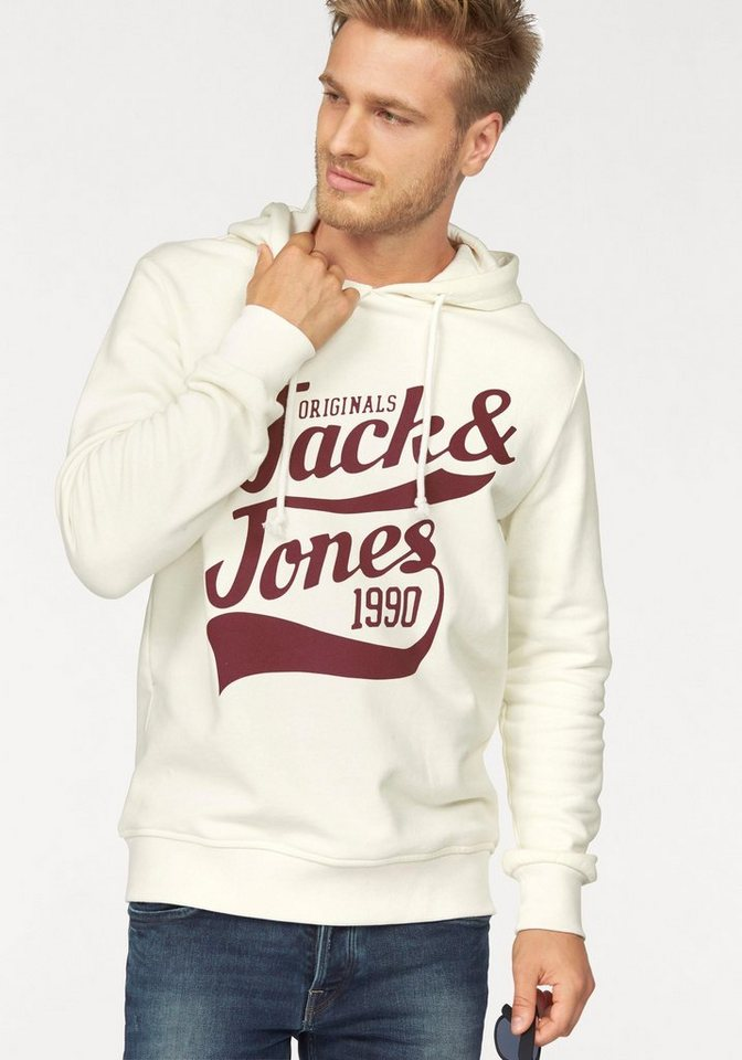 Jack & Jones Kapuzensweatshirt in ecru