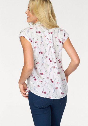 MUSTANG Hemdbluse, im Rücken mit Kellerfalte