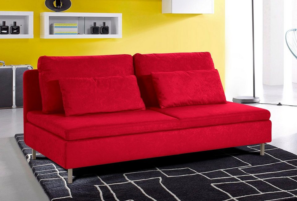 INOSIGN 3-Sitzer ohne Armlehnen in rot