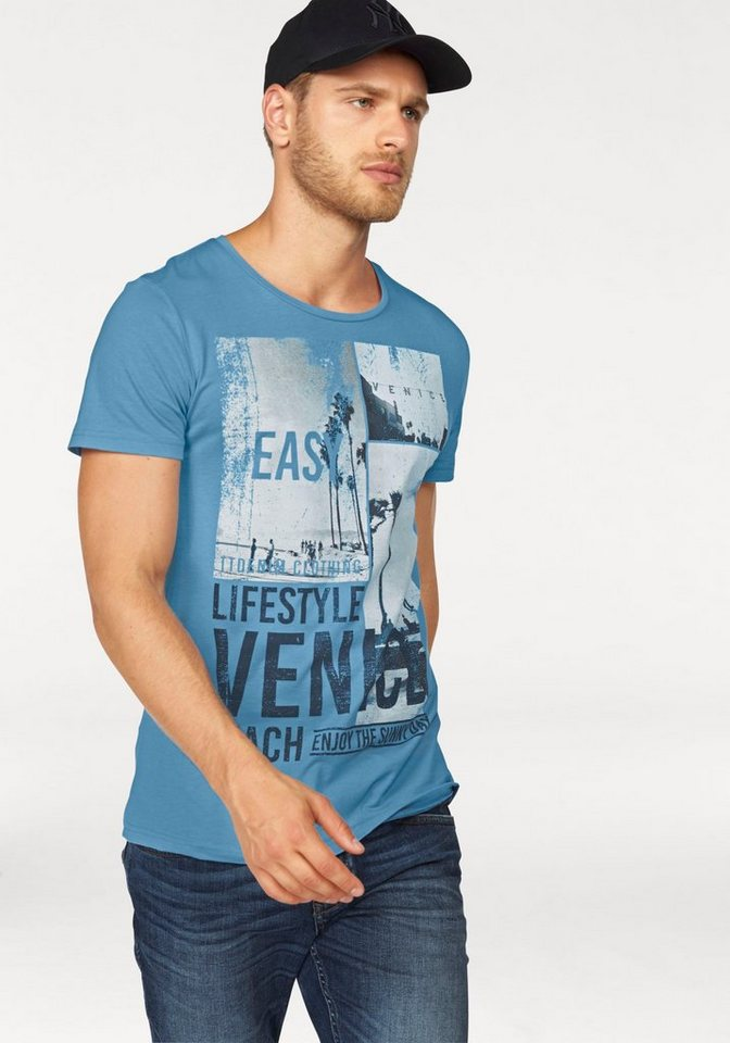 Tom Tailor Denim T-Shirt in hellblau