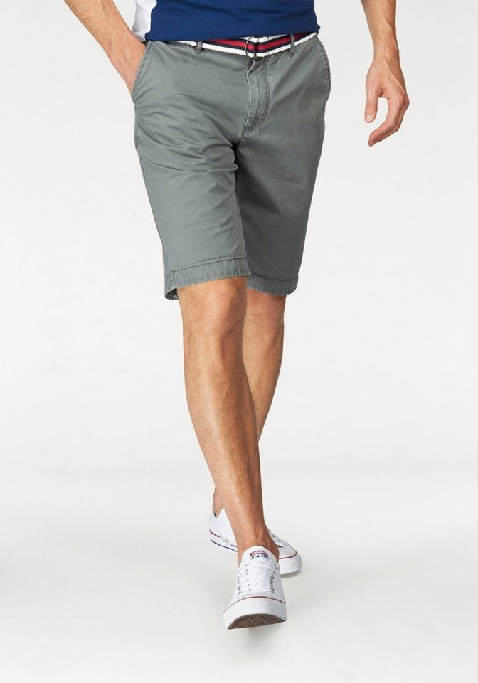 Tom Tailor Polo Team Shorts (Set, mit Gürtel) in olivgrün