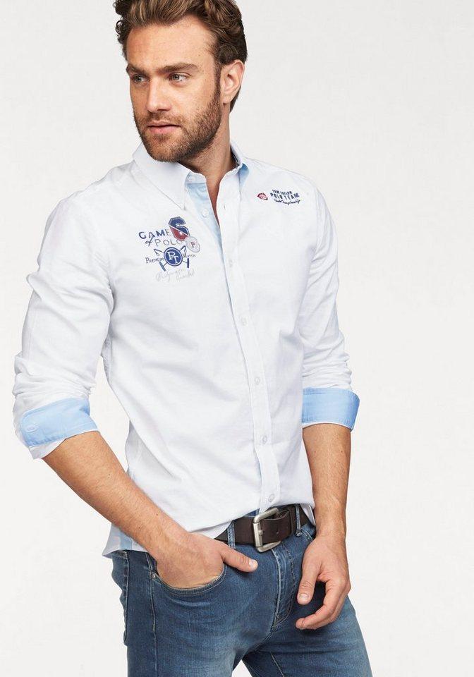 Tom Tailor Polo Team Hemd Hochwertige Oxford-Stretchqualität in weiß