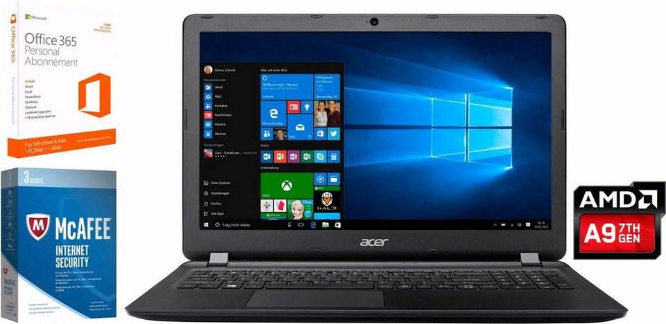 acer aspire es 15 notebook amd dual core 39 6 cm 15 6. Black Bedroom Furniture Sets. Home Design Ideas