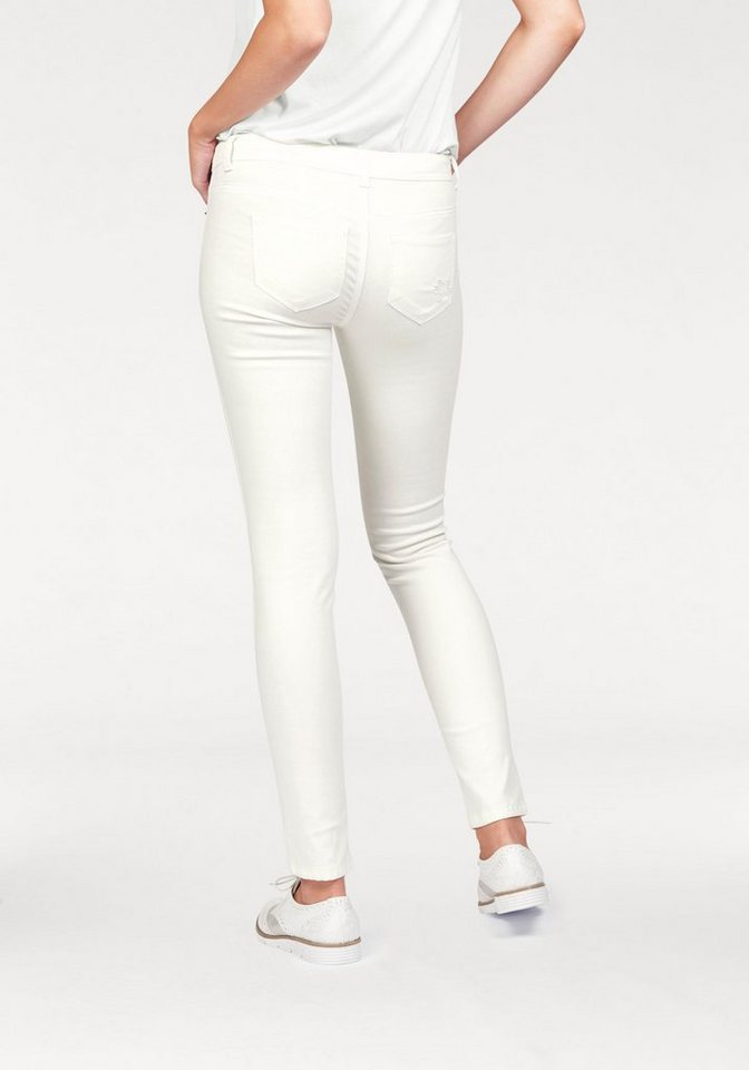 Laura Scott Destroyed-Jeans im Used-Look in offwhite