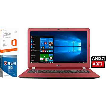 Acer Aspire ES 15 Notebook, AMD Dual Core, 39,6 cm (15,6 Zoll), 1000 GB Speicher, 8192 MB DDR3L