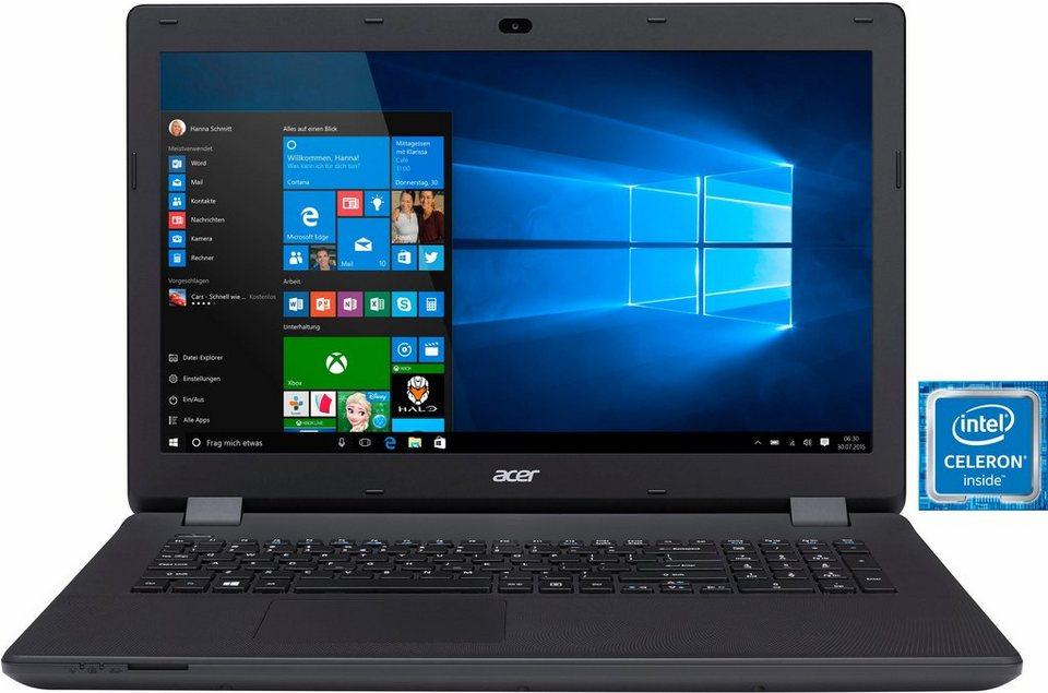 Acer Aspire ES 17 (ES1-731-C7CK) Notebook, Intel® Celeron™, 43,9 cm (17,3 Zoll), 500 GB Speicher in schwarz