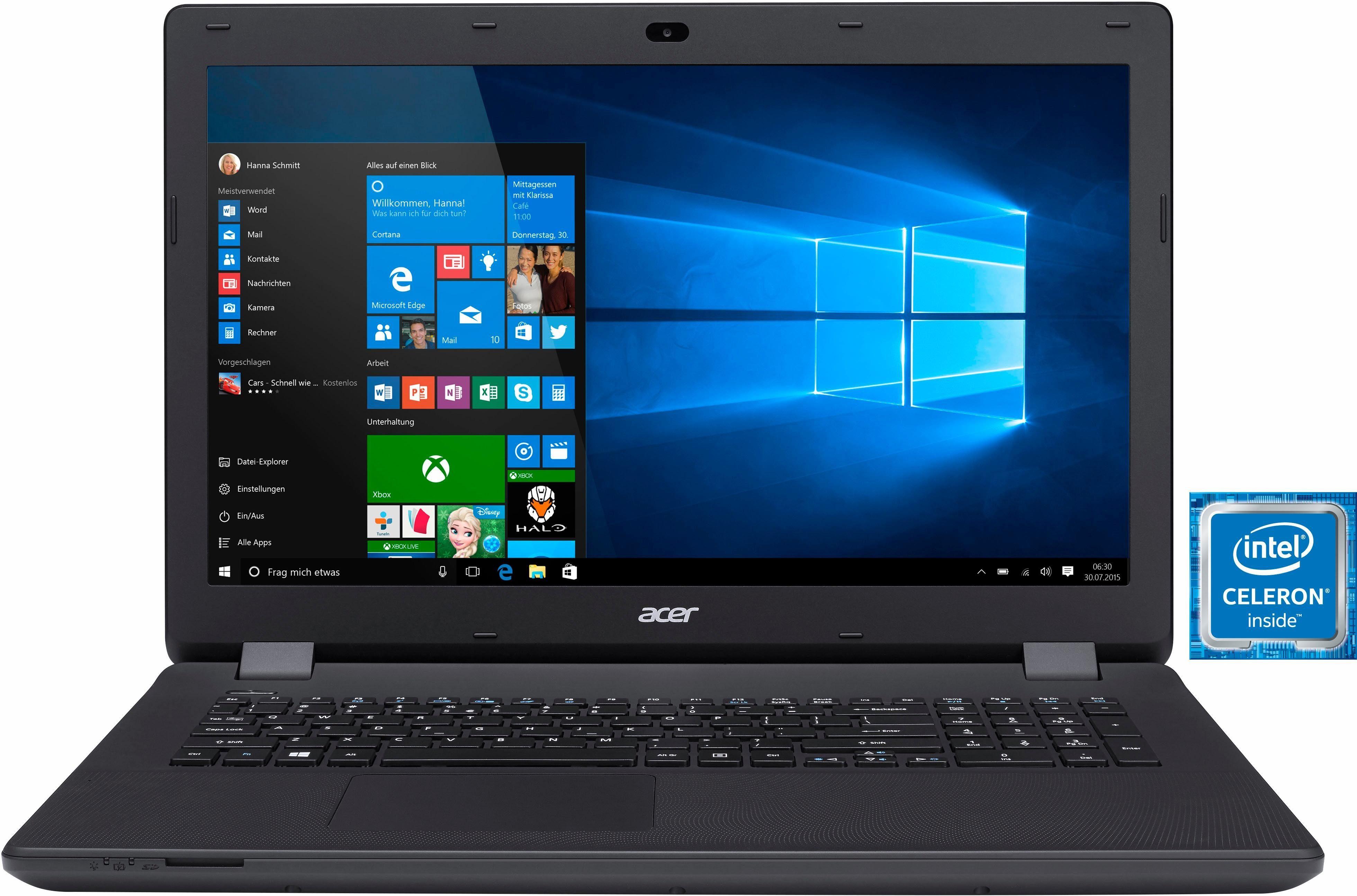 Acer Aspire ES 17 (ES1-731-C7CK) Notebook, Intel® Celeron™, 43,9 cm (17,3 Zoll), 500 GB Speicher