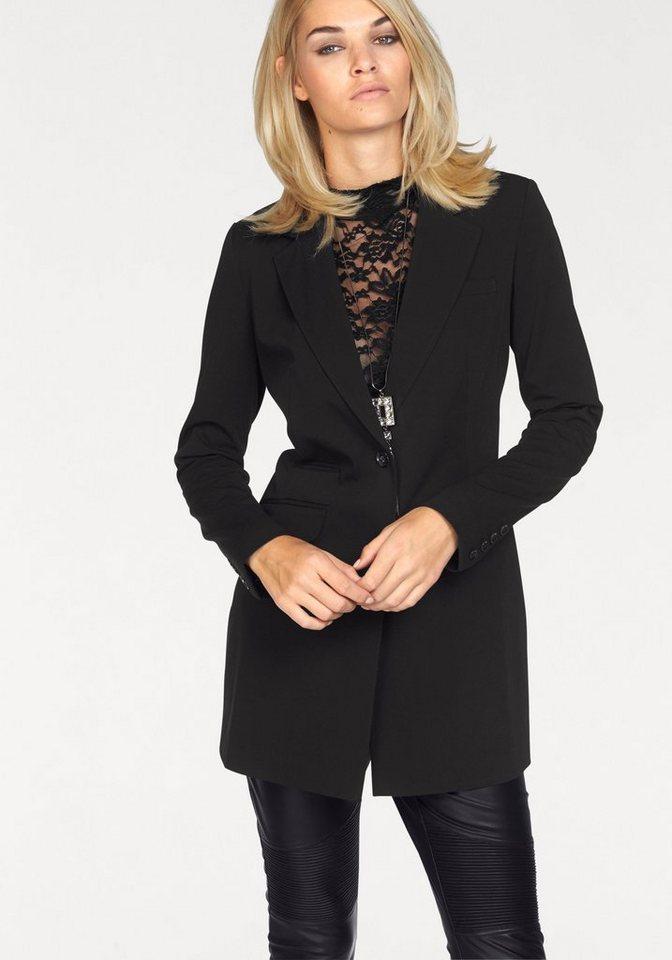 Laura Scott Longblazer in modisch langer Form in schwarz