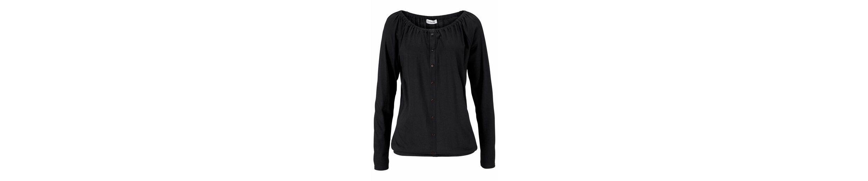 Boysen's Carmenshirt Off-Shoulder, mit aufgesetzter Zierknopfleiste