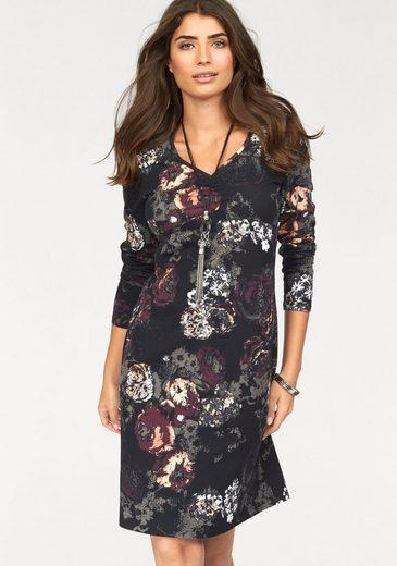 Boysen's Jerseykleid, mit floralem Alloverdruck